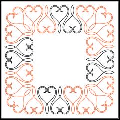 Lace Heart - Border - Layout - Panto/Corner Set