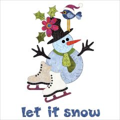 Let It Snow - Wall Hanging - Batik - Applique