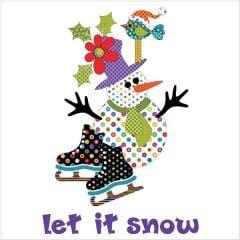 Let It Snow - Wall Hanging - Dotz - Applique