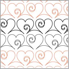 Love Doodle - Sashing - Pantograph