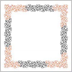 Love, Peace and Happiness - Border - Corner - Layout