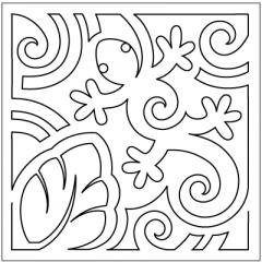 "Mola - Block #4 - Stencil (9"")"