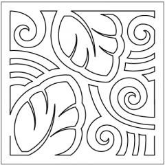 "Mola - Block #5 - Stencil (9"")"