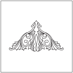 Ornamental Webs - Triangle Block #3