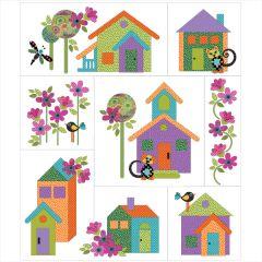Our House - 8 block - Applique Quilt