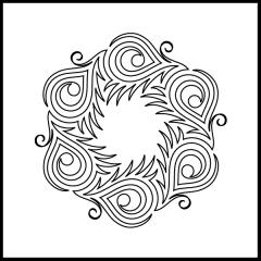 Peacock Plumes - Block #1