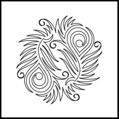 Peacock Plumes - Block #2