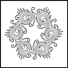 Peacock Plumes - Block #4