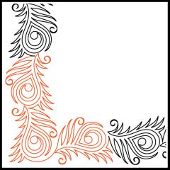 Peacock Plumes - Petite - Corner