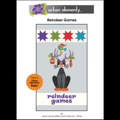 Reindeer Games Quilt - Applique Pattern - Cover