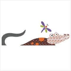 Safari - Croc - Block #5 - Applique