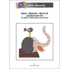 Safari - Elephant - Block #2 - Applique Add-On Pattern