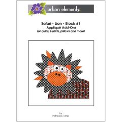 Safari - Lion - Block #1 - Applique Add-On Pattern
