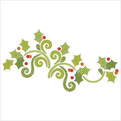 Season's Greetings - Garland - Dotz - Applique