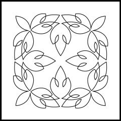Simple Loopy Leaves - Block #6