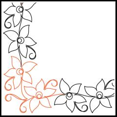 Spider Lily - Border - Corner