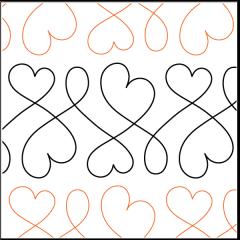 Sweet Hearts - Sashing - Pantograph