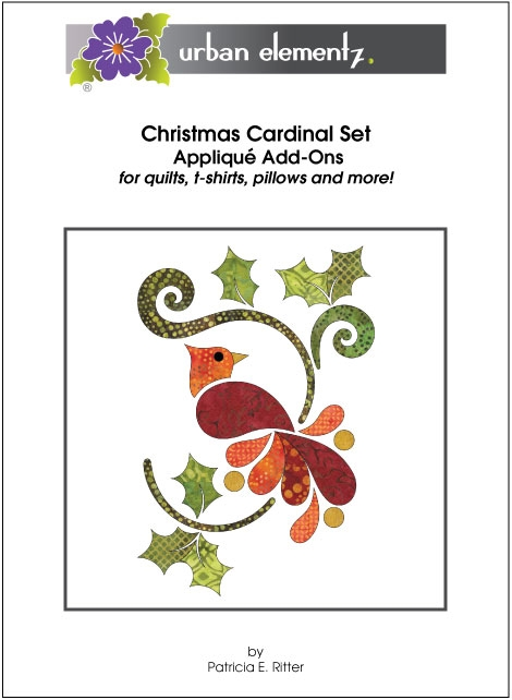 Christmas Cardinal Set - Applique Add-On Pattern