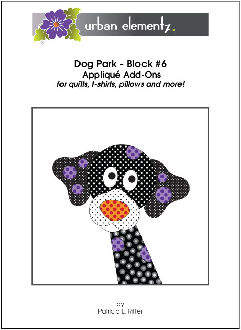 Dog Park - Block #6 - Applique Add-On Pattern