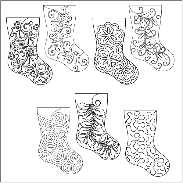 Home for the Holidays - Stocking - Set #5