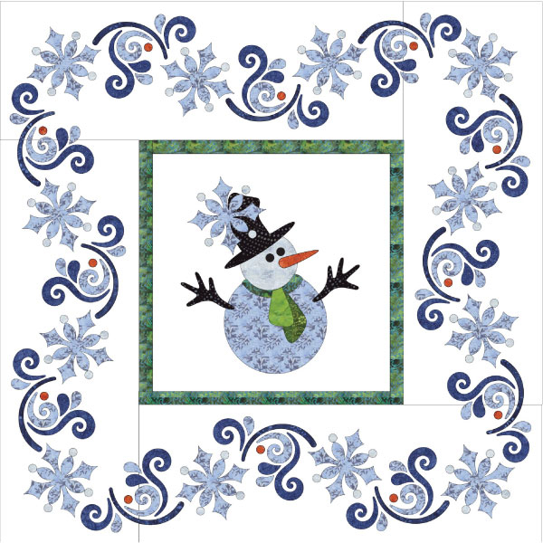 Let It Snow - Applique Quilt
