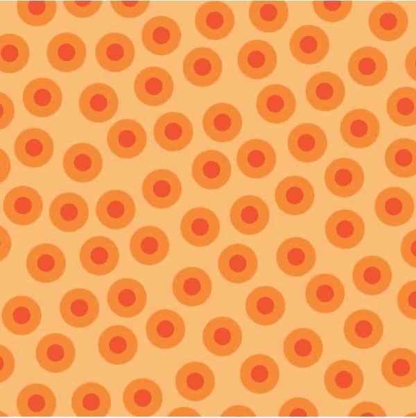 Lily's Garden Dot Toss Lt. Orange - RJR Fabrics
